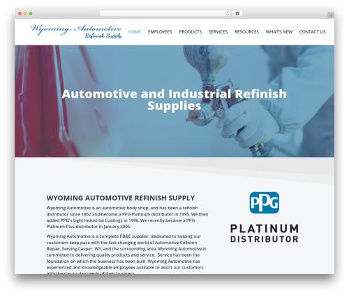 Divi WordPress shop theme - wyomingautomotiverefinish.com
