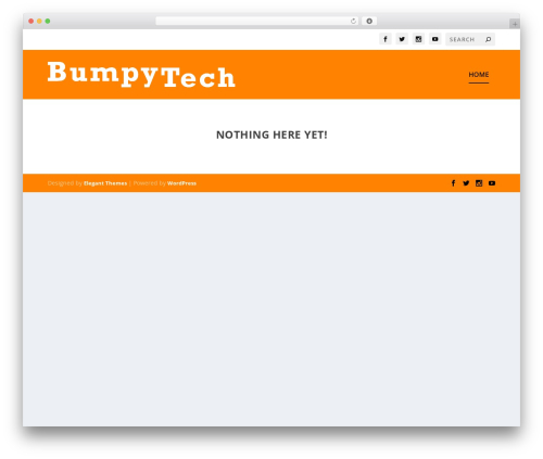 Extra WordPress theme - bumpytech.com