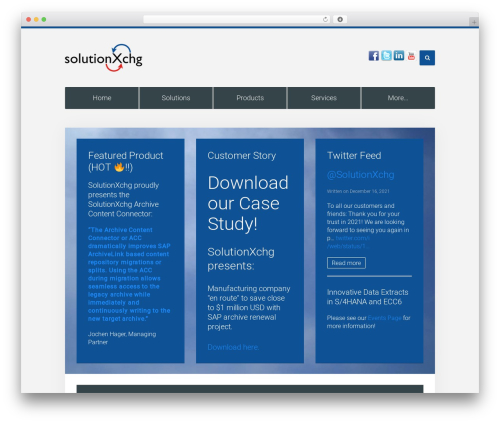 Unity WordPress theme - solutionxchg.com