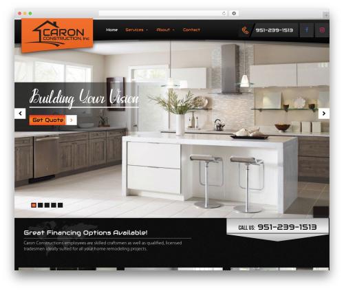 Caron Construction top WordPress theme - caronconstruction.com