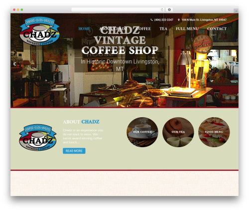 Coffee Pro WordPress template - chadzmt.com