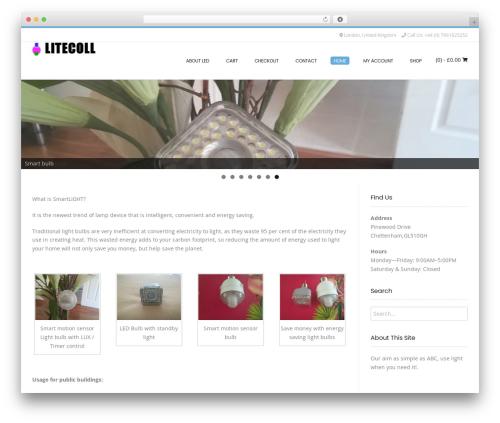 Conica template WordPress free - litecoll.com