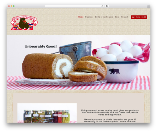 Organic Web Shop WordPress shop theme - brumbaughsdelites.com