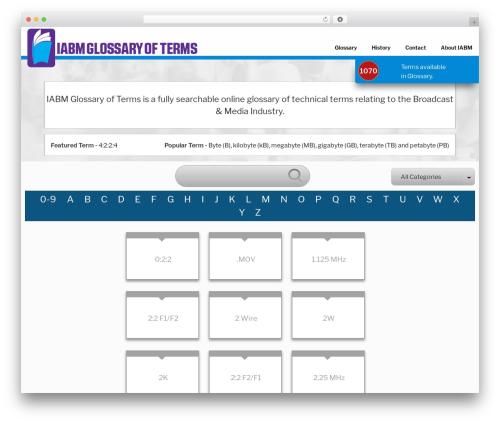 Twenty Seventeen free website theme - iabmglossary.com