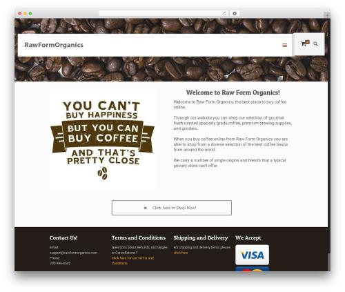WordPress theme Betheme - rawformorganics.com