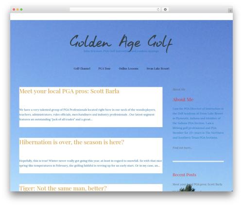 Best WordPress template Carbis - goldenagegolf.com