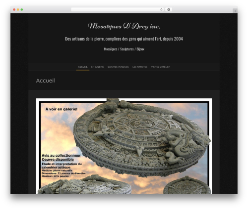 Blackoot Lite free WordPress theme - mosaiquesdarcy.com