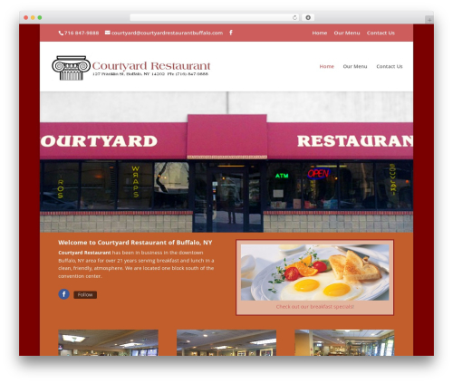 Divi best restaurant WordPress theme - courtyardrestaurantbuffalo.com
