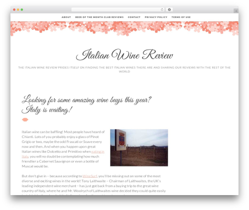 Germaine free WordPress theme - italianwinereview.com