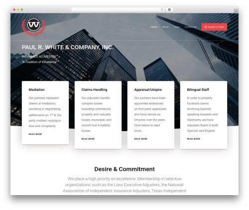 Movedo WordPress theme design - prwhite.com