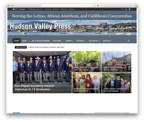 Newspaper WordPress theme - hudsonvalleypress.com
