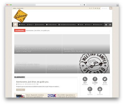 WordPress website template Sahifa (shared on wplocker.com) - kdjoteros.com