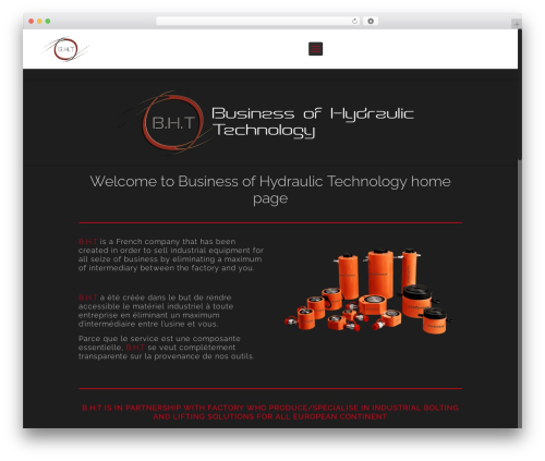 Betheme WordPress template for business - businessofhydraulictechnology.com