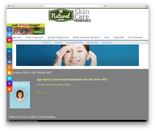 Catalyst WordPress page template - naturalskincare-remedies.com