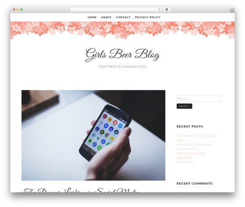 Germaine WordPress page template - girlsbeerblog.com