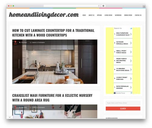 LiveBlog free website theme - homeandlivingdecor.com