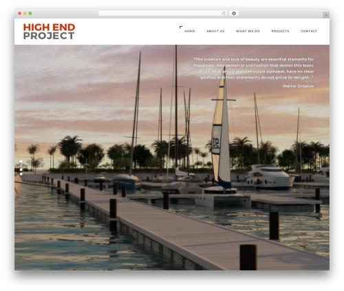WordPress theme Domik - highendproject.com