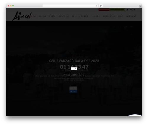 WordPress theme Enfold - aforce1hiphop.com
