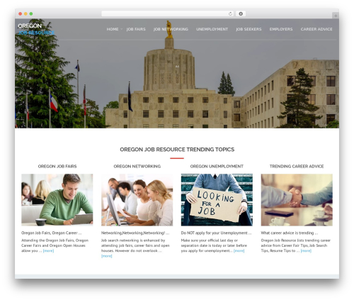 Avion WordPress theme - oregonjobresource.com