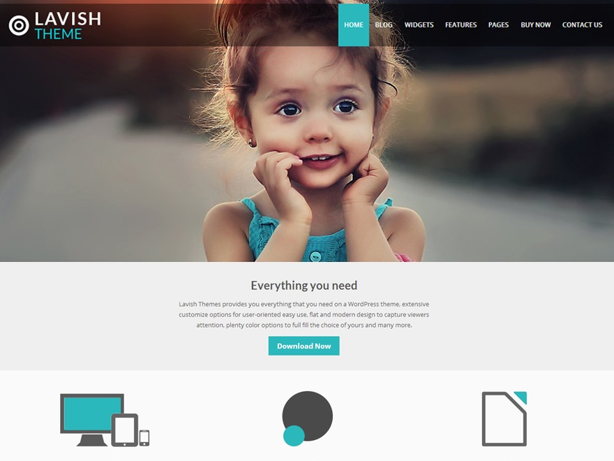 child-Lavish WordPress video template