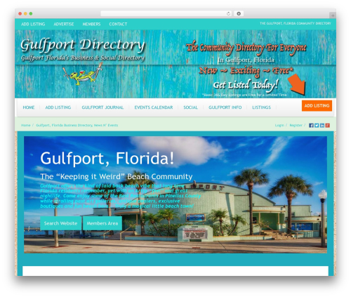 WordPress cff-masonry plugin - gulfportdirectory.com