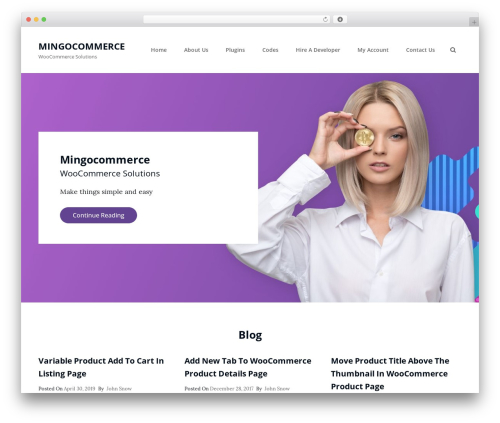 Clean Blocks WordPress shop theme - mingocommerce.com