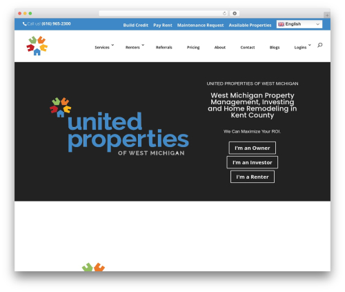Divi real estate WordPress theme - rentupm.com