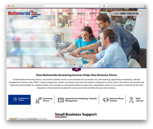 Nationwide Answering Services best WordPress theme - nationwideanswering.com