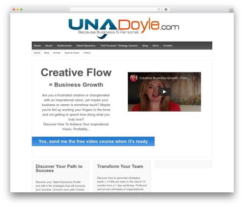 Responsive WordPress website template - unadoyle.com