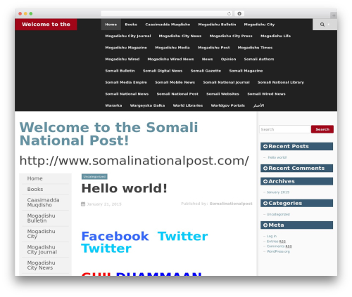SmartAdapt best free WordPress theme - somalinationalpost.com