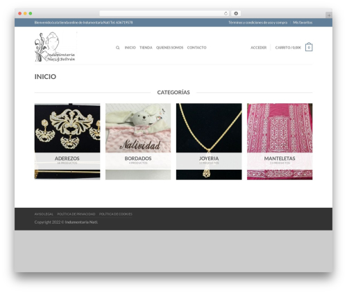 Theme WordPress Flatsome - mantillasdefallera.com