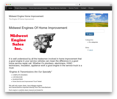 WordPress theme Activetab - midwest-engine.com