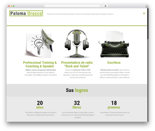 WordPress theme Betheme - palomaorozco.com