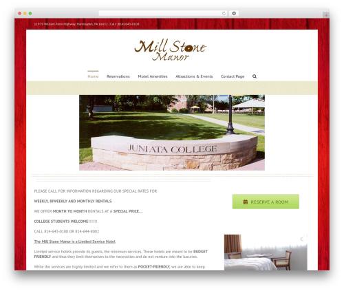 Avada WordPress theme - themillstonemanor.com