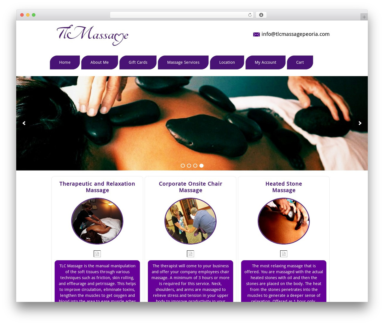 Best WordPress theme TLC - tlcmassagepeoria.com