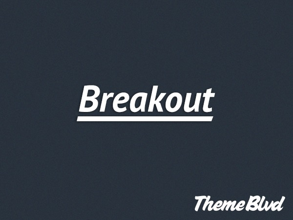 Breakout WordPress theme