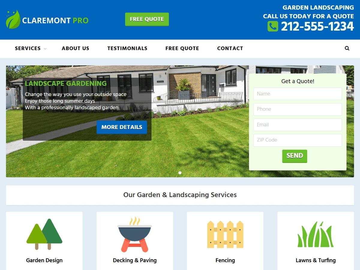 Claremont Pro WordPress website template