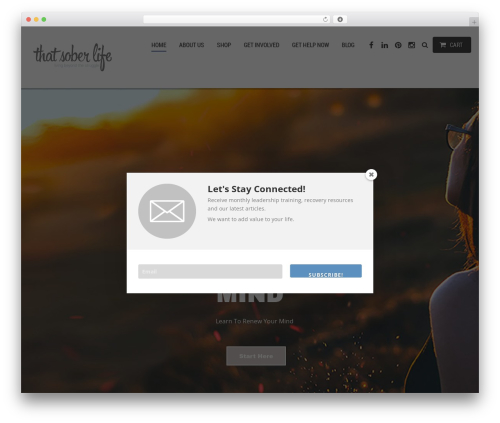 ClickBoutique WP template - thatsoberlife.com