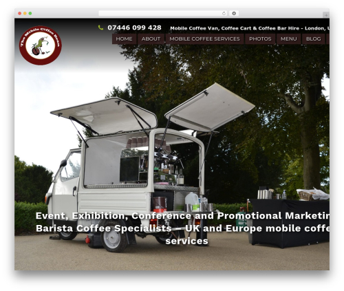 Coffee Pro WordPress website template - themobilecoffeebean.com