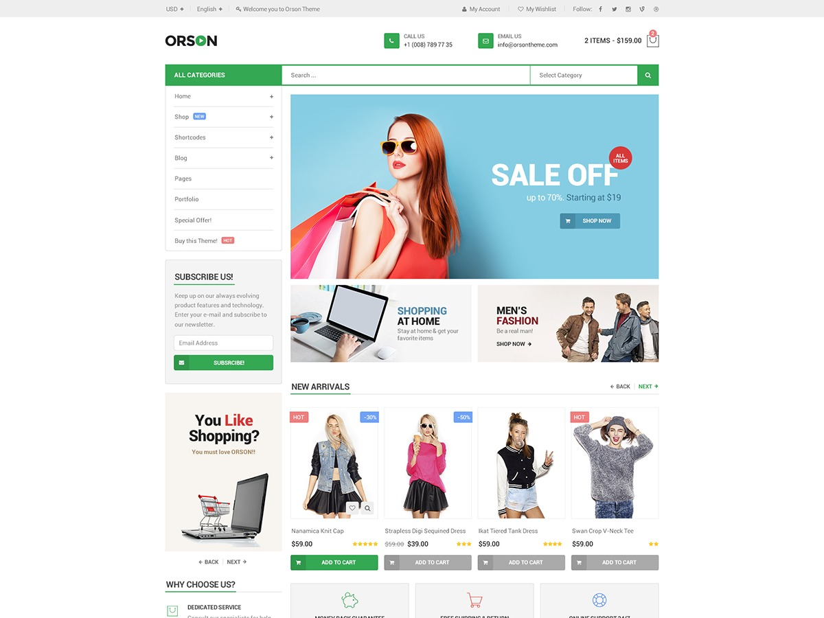 G5Plus Orson WordPress ecommerce template