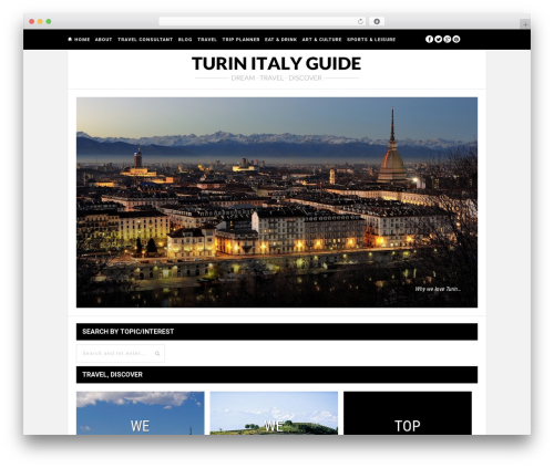 Hickory WordPress page template - turinitalyguide.com