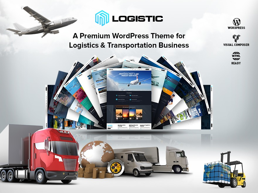 Logistic (shared on wplocker.com) WordPress template for business