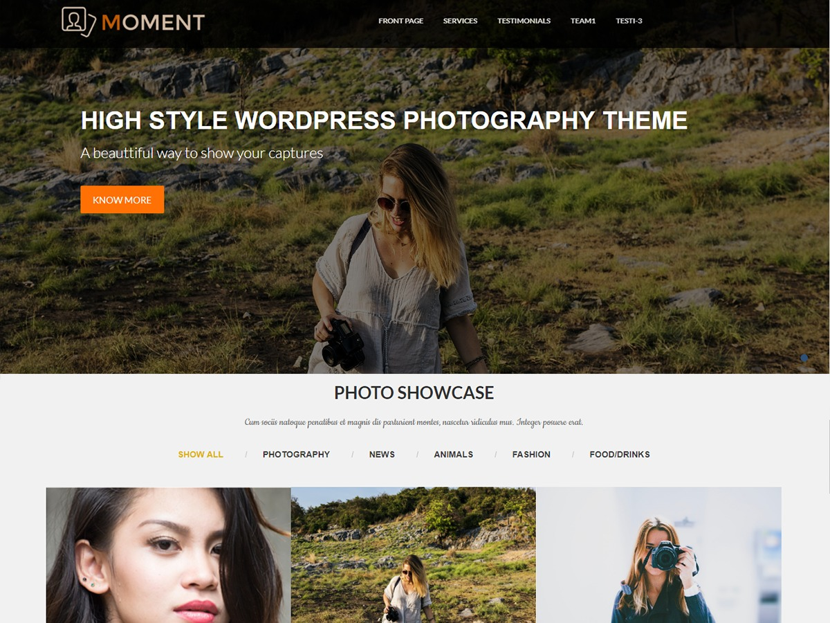 Moment WordPress template free