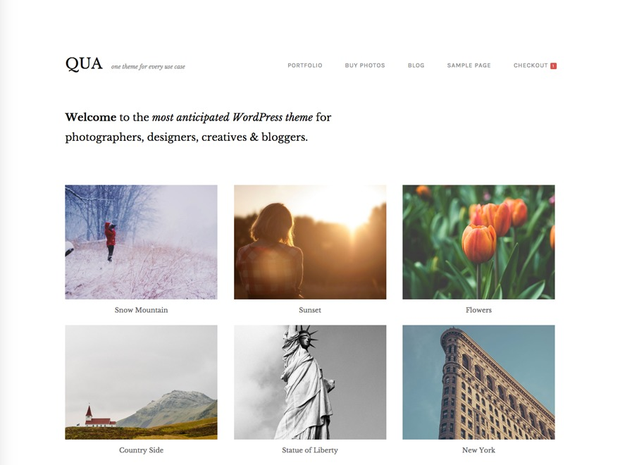 Qua WordPress blog template
