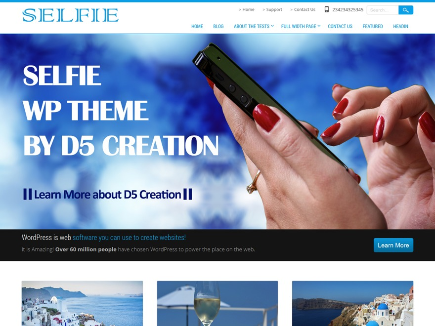 Selfie theme WordPress