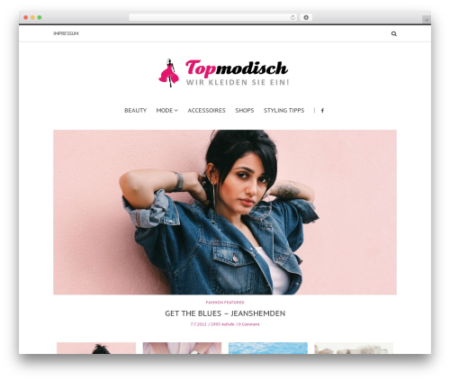 Solstice WordPress store theme - topmodisch.at
