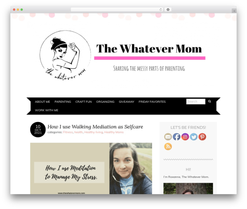 Template WordPress Adelle - thewhatevermom.com