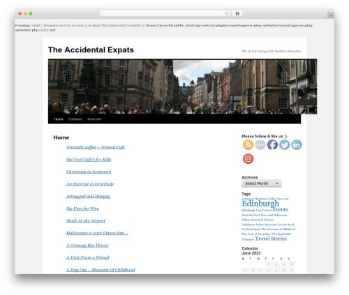 Free WordPress Subscription Options plugin - theaccidentalexpats.com