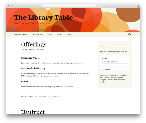Free WordPress Inline mp3 player plugin - thelibrarytable.com