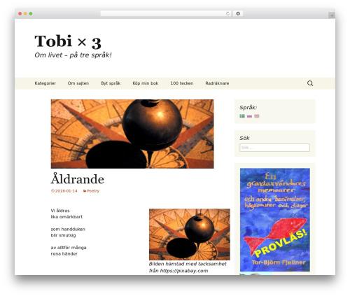 Twenty Thirteen Child WordPress theme - tobi3.se/blog/?lang=sv